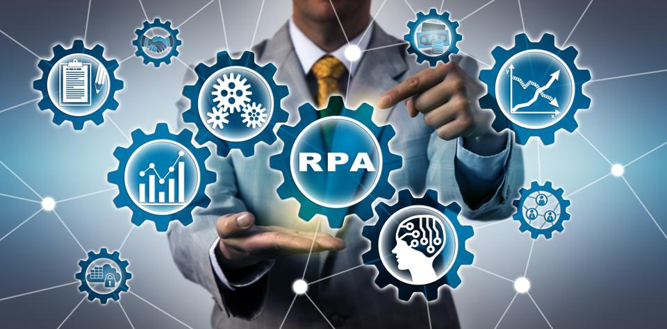 Torso Of IT Manager Activating RPA Application