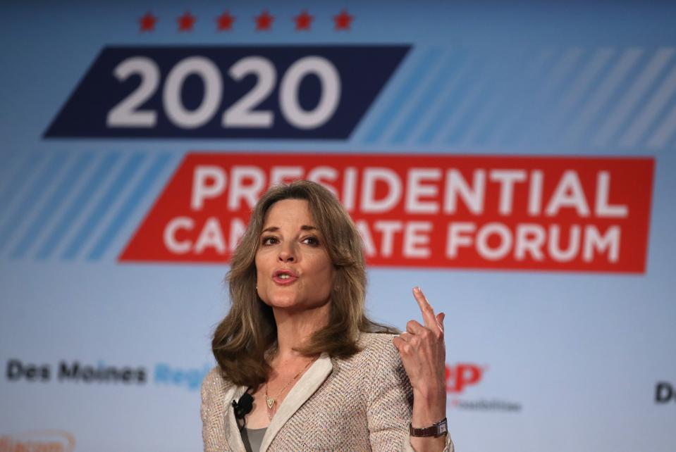 Democratic Presidential Candidate Marianne Williamson AARP Candidate Forums In Iowa