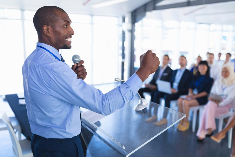 Conquering a fear of presenting is well worth the tremendous long term career benefits.
