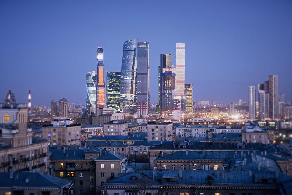 Creative Moscow city wallpaper