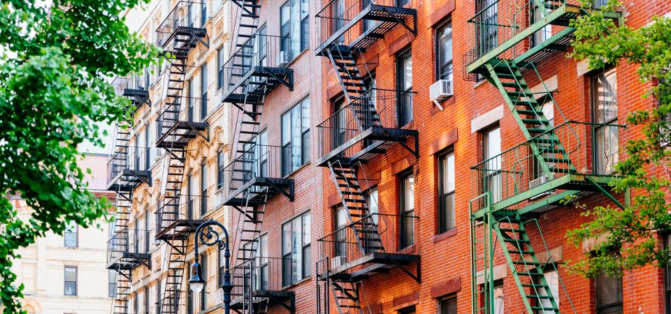 Renters and landlords are struggling to make ends meet. East Village, Manhattan, New York