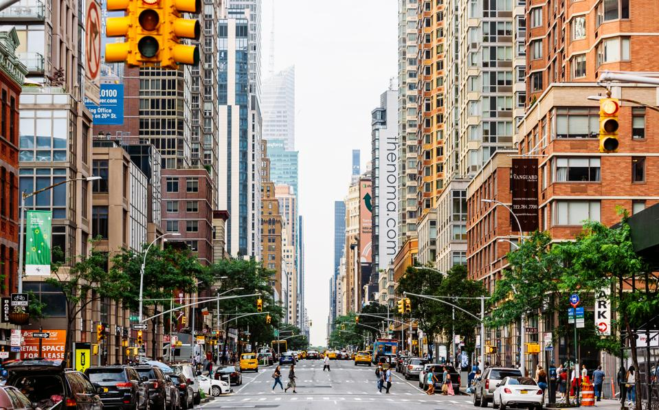 6th Avenue in Manhattan, New York City, USA