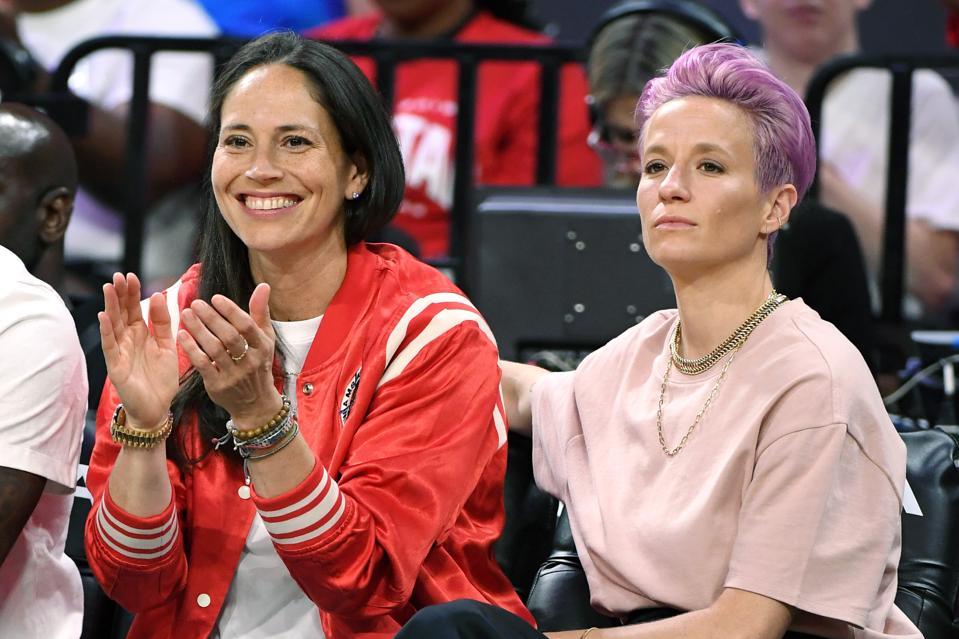 Sue Bird and soccer player Megan Rapinoe WNBA All-Star Game 2019
