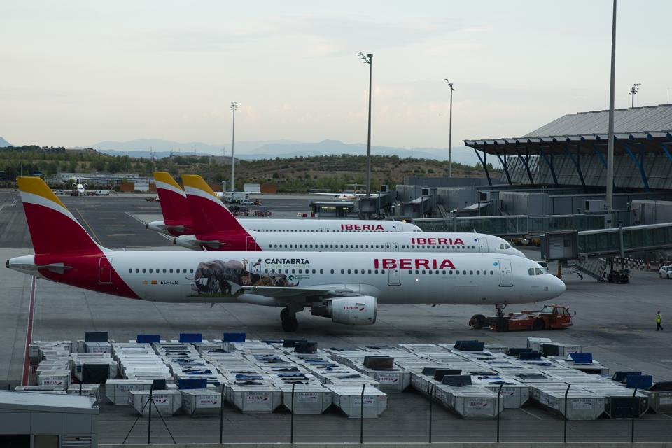 Iberia Airlines Personnel Strike In Madrid