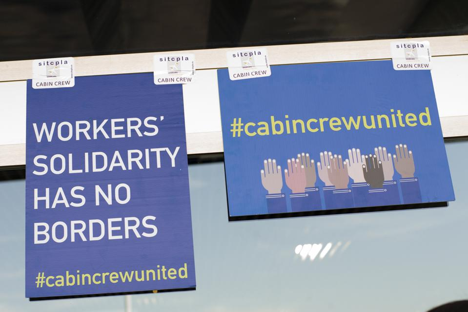 Ryanair Cabin Crew Strike In Madrid