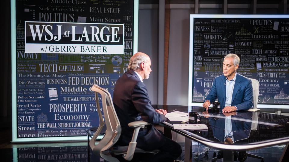 Rahm Emanuel Visits ″WSJ At Large With Gerry Baker″