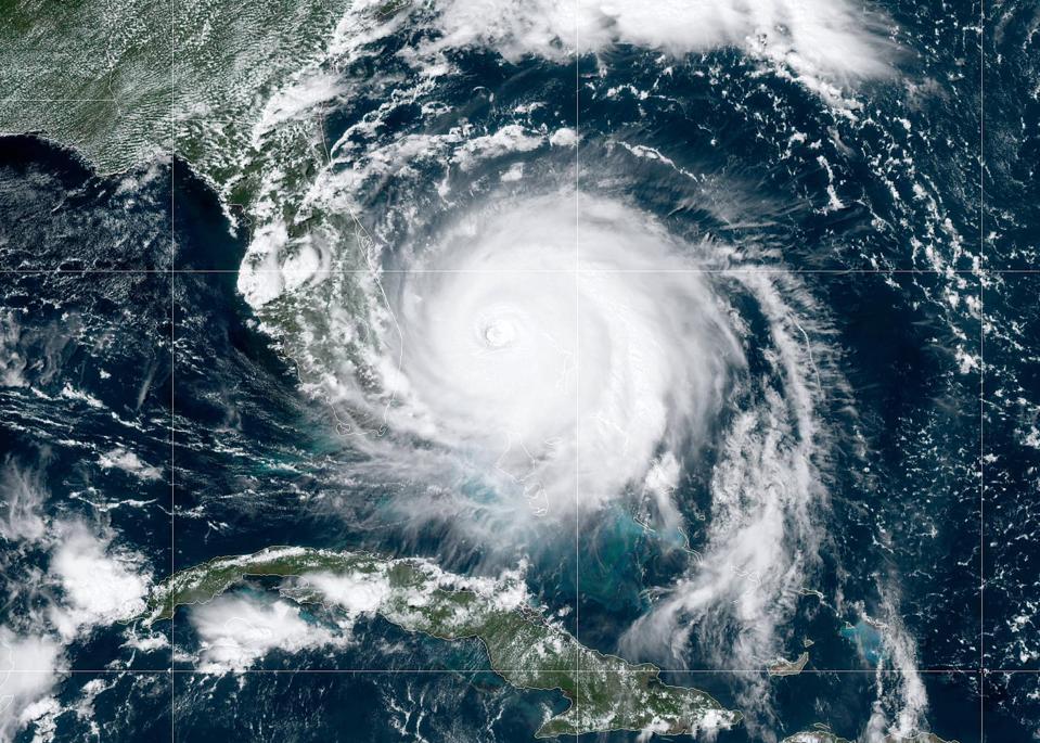 Satellite view of Hurricane Dorian on September 2.