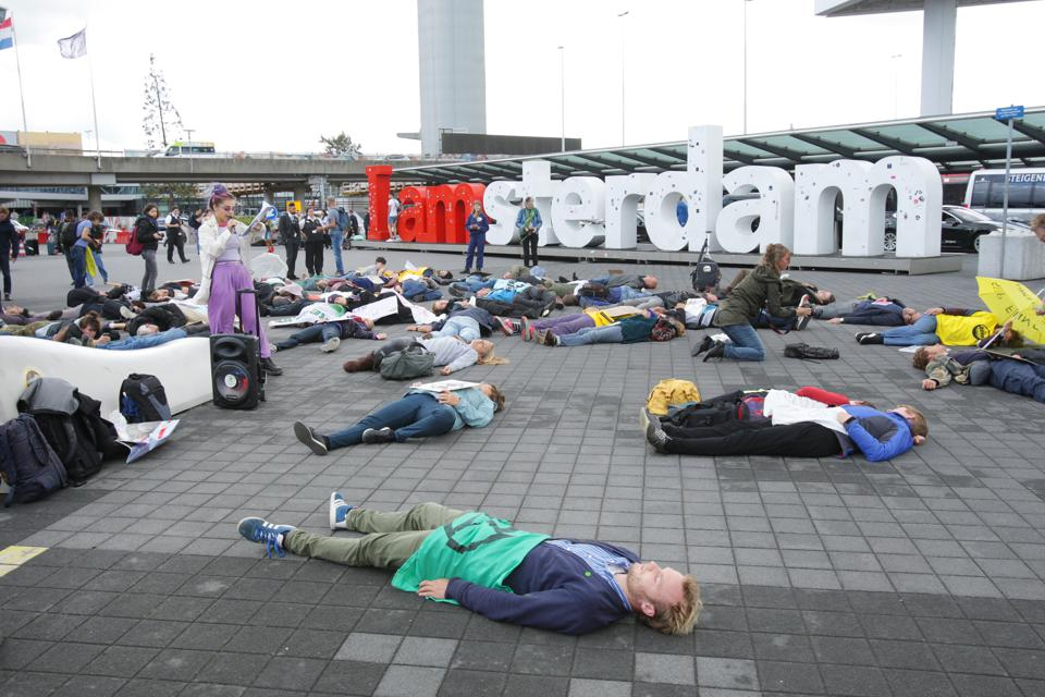 Extinction Rebellion Protest In Amsterdam