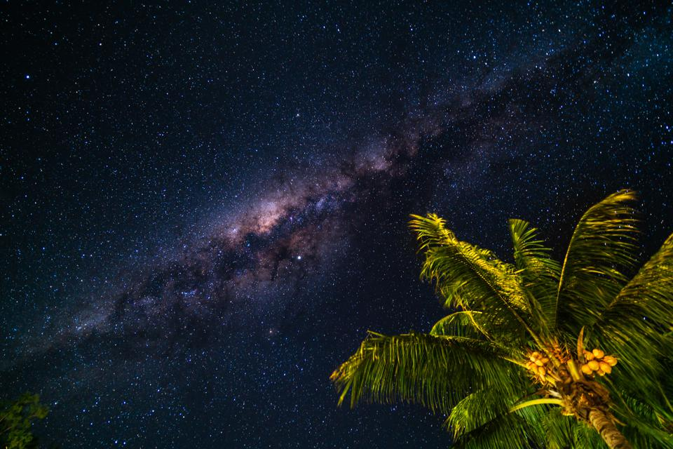 milky way in the tropics
