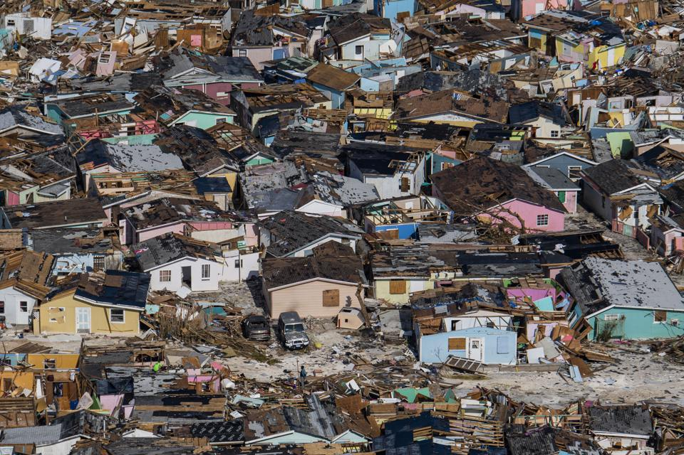 Damage from Hurricane Dorian in the Bahamas