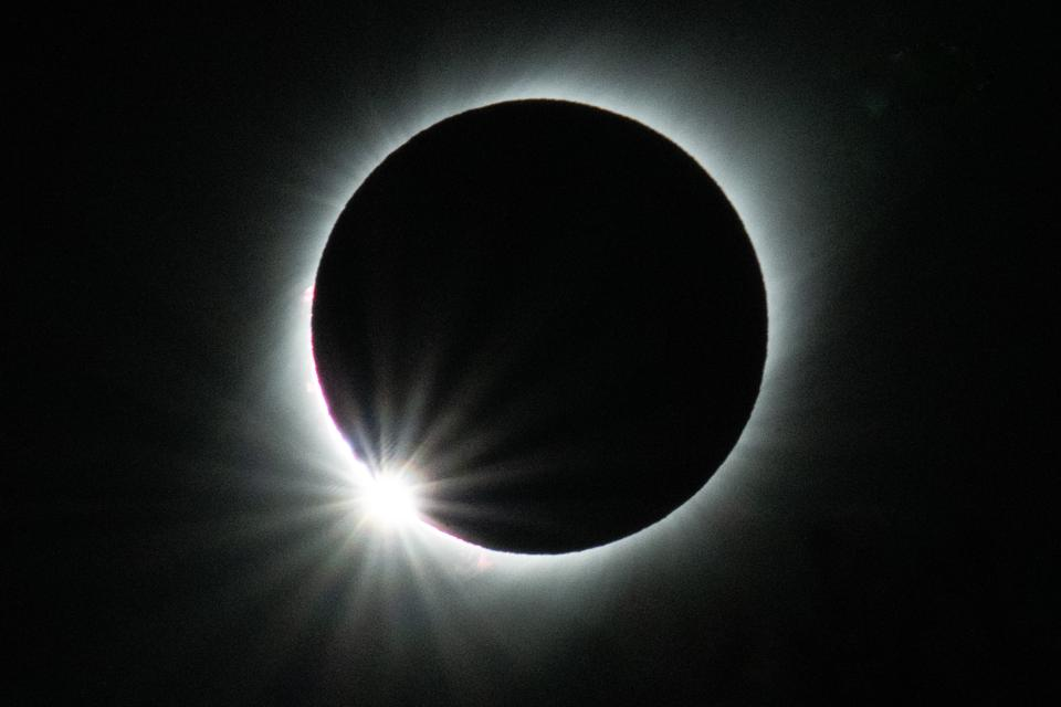 Total solar eclipse from Vicuña in Chile, July 2, 2019.