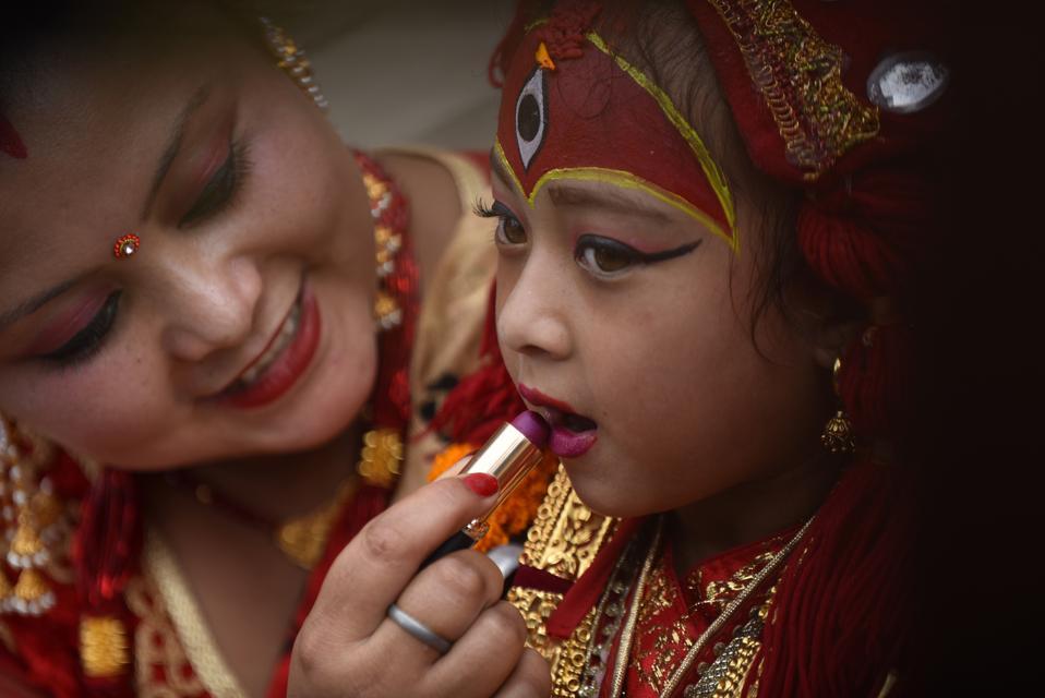Kumari Puja Festival Celebrated