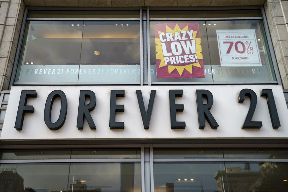 Low-Cost Apparel Retailer Forever 21 To File For Bankruptcy According To Reports