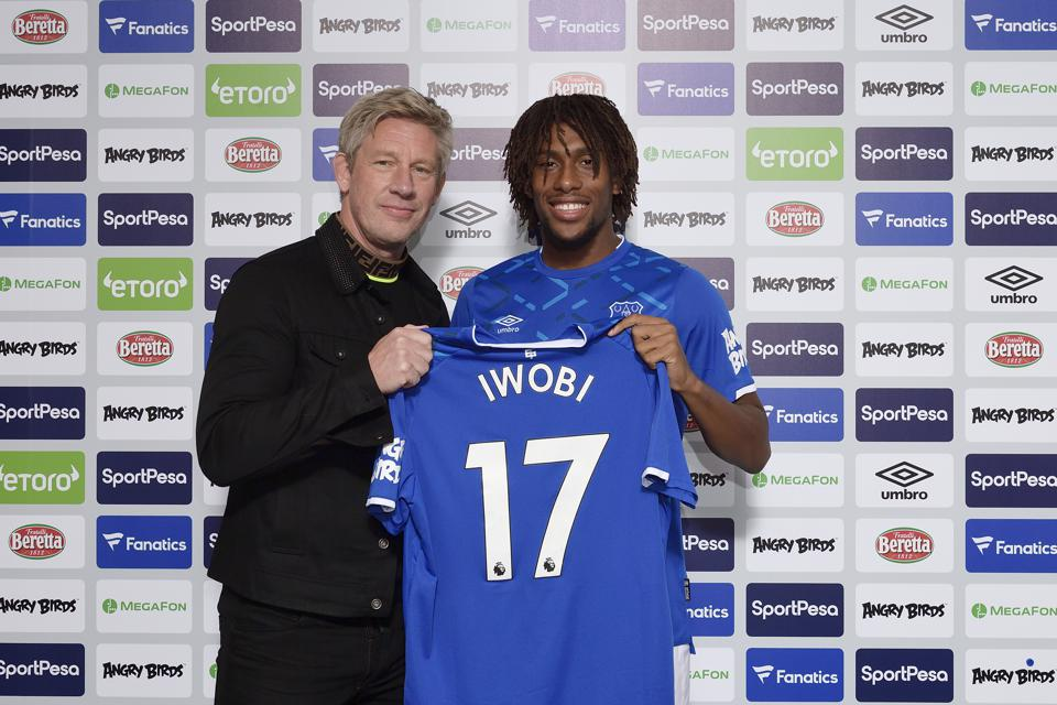 First Day at Everton for New Signing Alex Iwobi