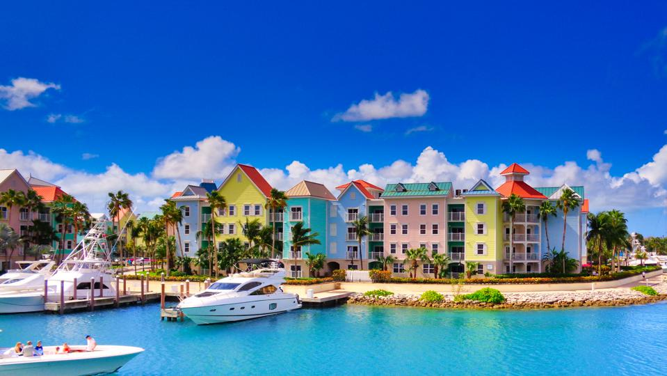 Colourful houses in Nassau