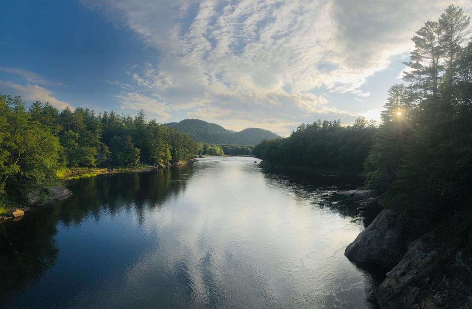 Androscoggin River in Gilead, Maine USA