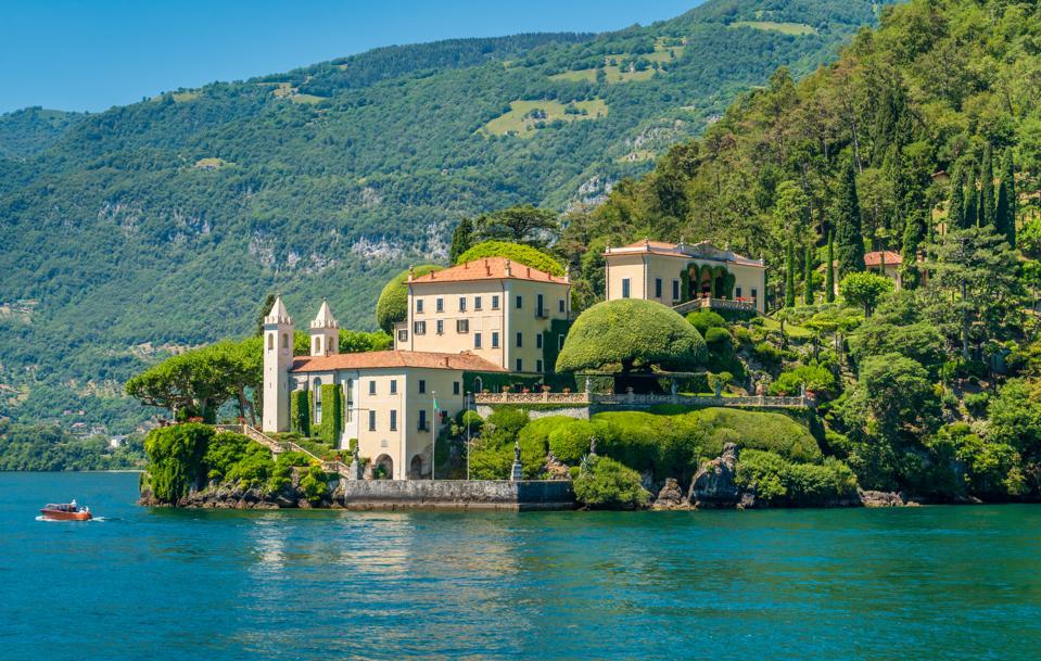 Villa del Balbianello, famous villa in the comune of Lenno, overlooking Lake Como. Lombardy, Italy. July-18-2018