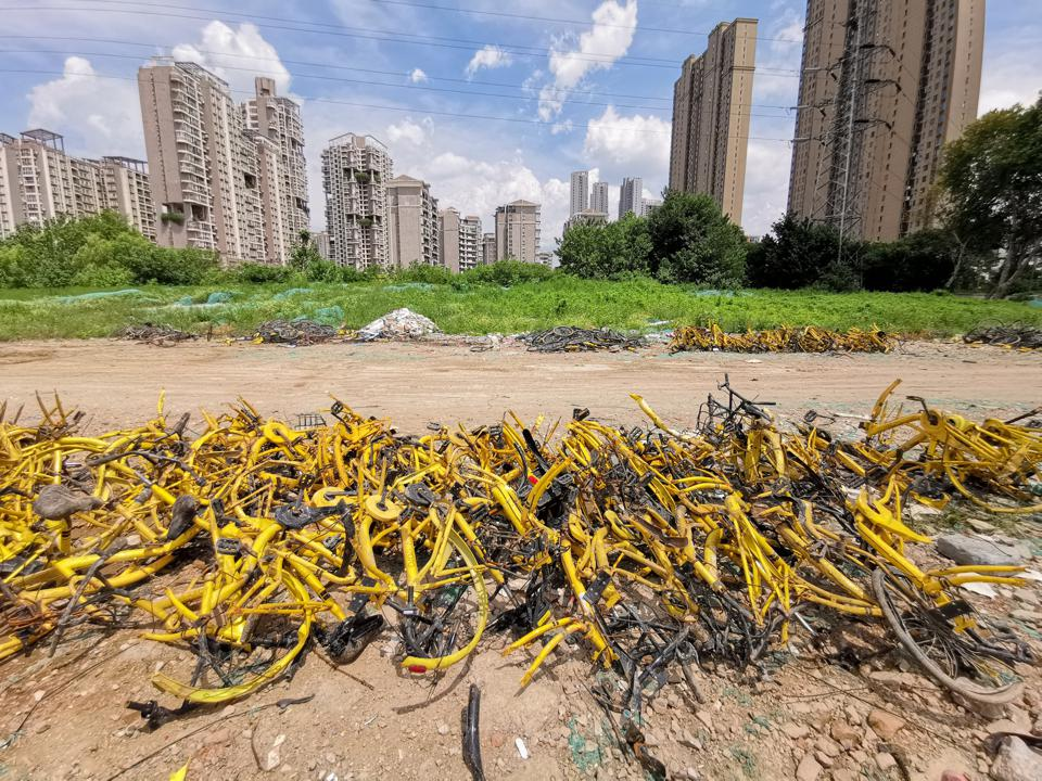 Ofo Sharing Bikes Dismantled In Wuhan