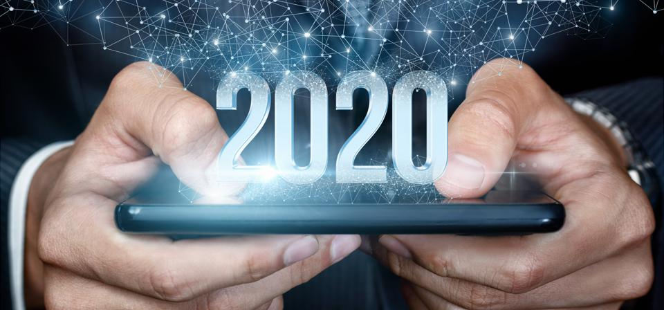 Concept of a new 2020 business year.