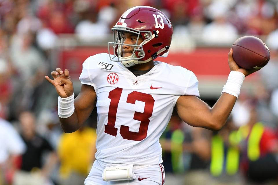 Tua Tagovailoa is expected to be the second quarterback taken in the 2020 NFL Draft
