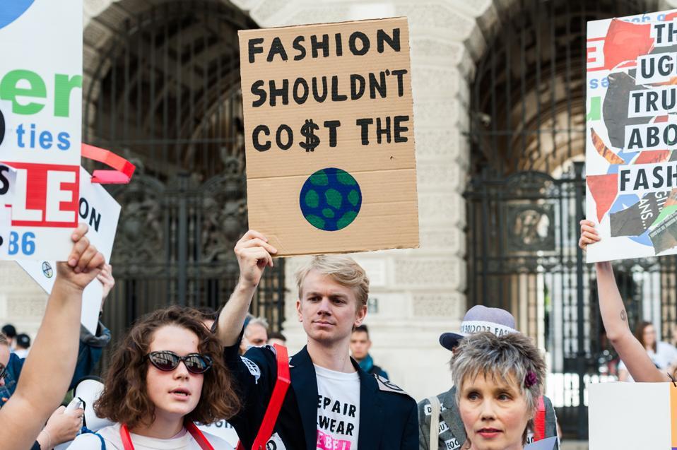 Extinction Rebellion Disrupt London Fashion Week