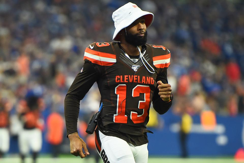 Odell Beckham Jr. of the Browns during an August 17 preseason game against the Colts.