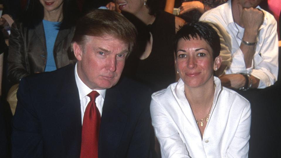 Donald Trump and Ghislaine Maxwell.