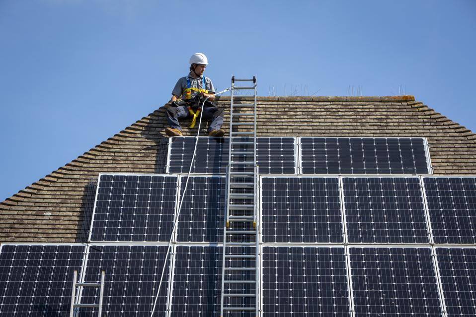 Renewable energy solar panel maintenance.