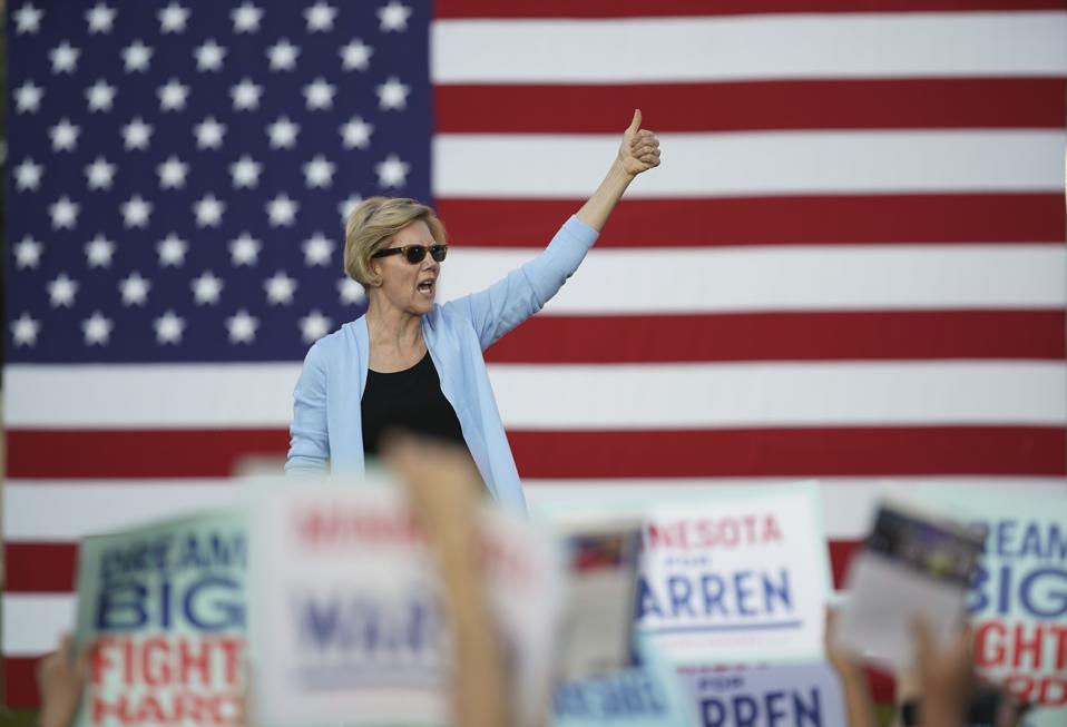 Democratic Presidential candidate Sen. Elizabeth Warren held a Town Hall meeting in Minnesota