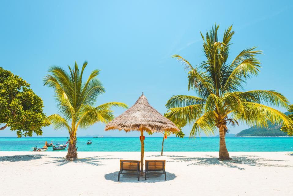 Idyllic tropical beach, Thailand