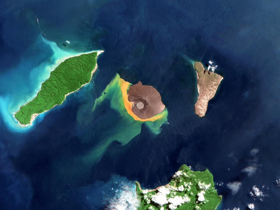 Satellite views of Krakatau
