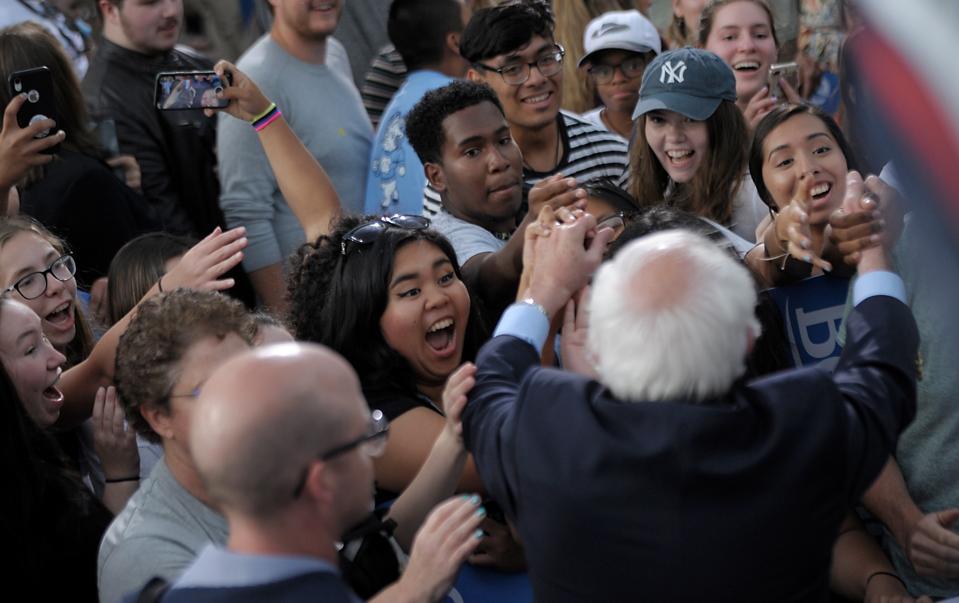 Bernie Sanders Holds Campaign Rally At University Of North Carolina