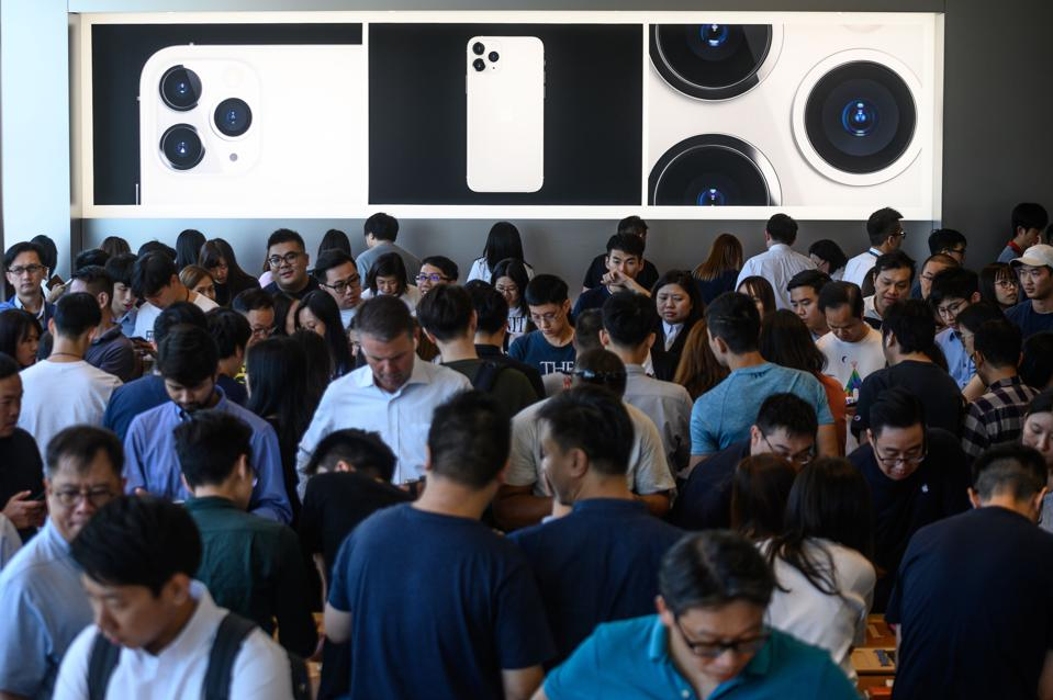 Apple store Hong Kong in September 2019