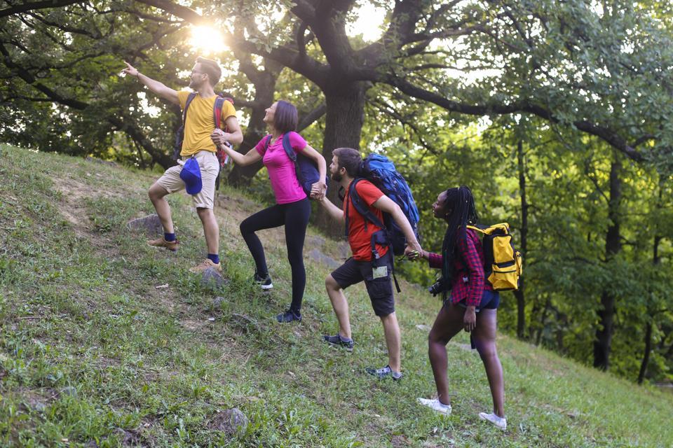 Climbing a hill