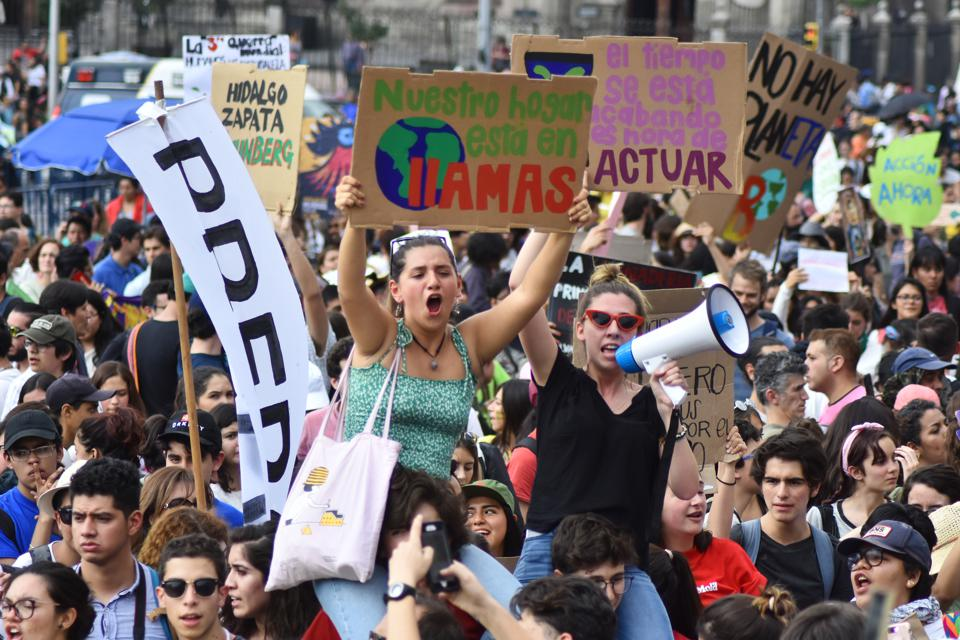 Global climate strike in Mexico