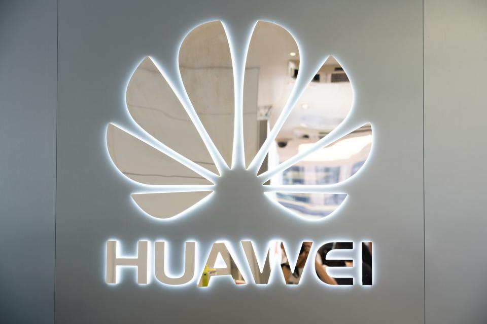 Chinese multinational technology company Huawei logo seen in...