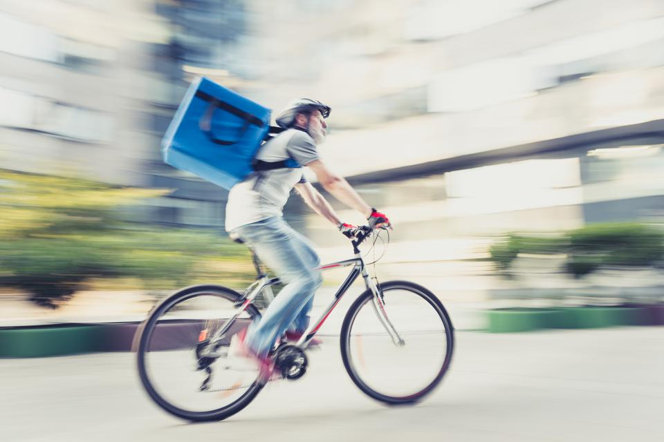 Food delivery on bicycle