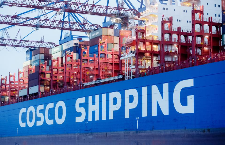 Container freighter COSCO Shipping Leo