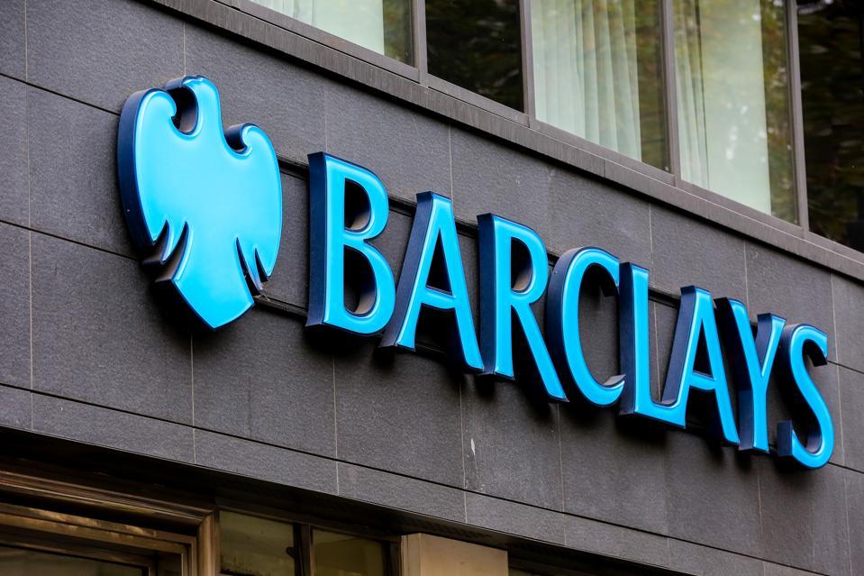 Barclays Bank logo seen in London...
