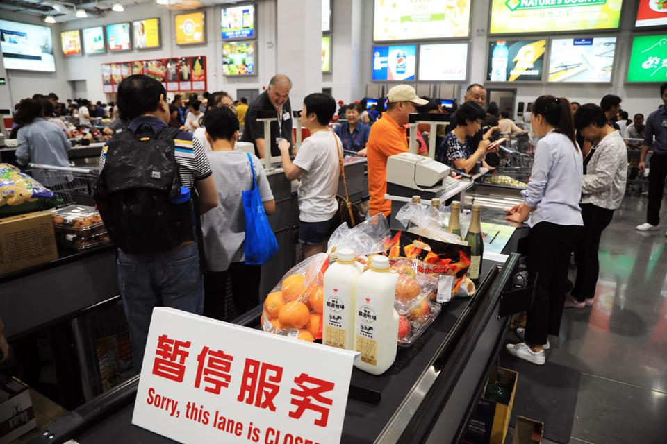 Crowds Flock To Costco Store In Shanghai