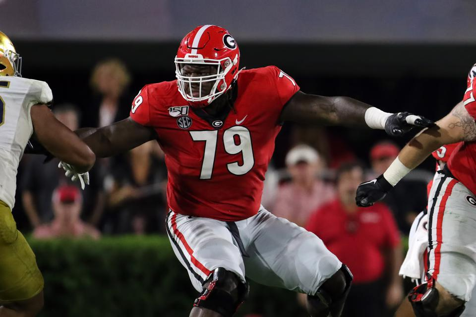 wilson isaiah nfl georgia draft packers bay bears chicago addition huge would manhandles mama girlfriend pick blonde round national into