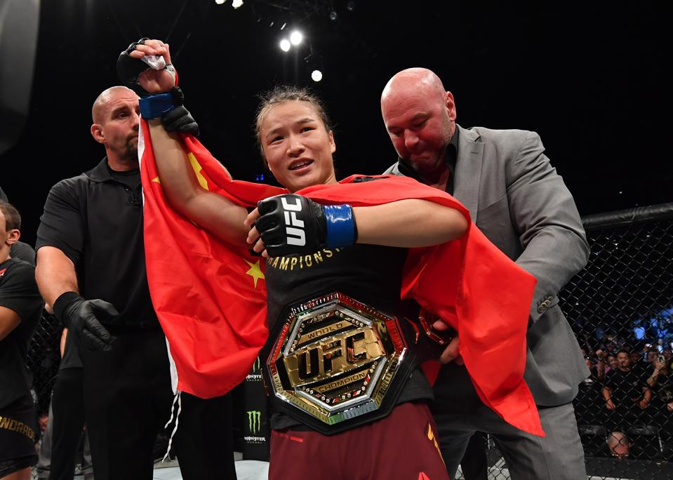 Weili Zhang faces Joanna Jedrzejczyk in the co-main event of tonight's UFC 248