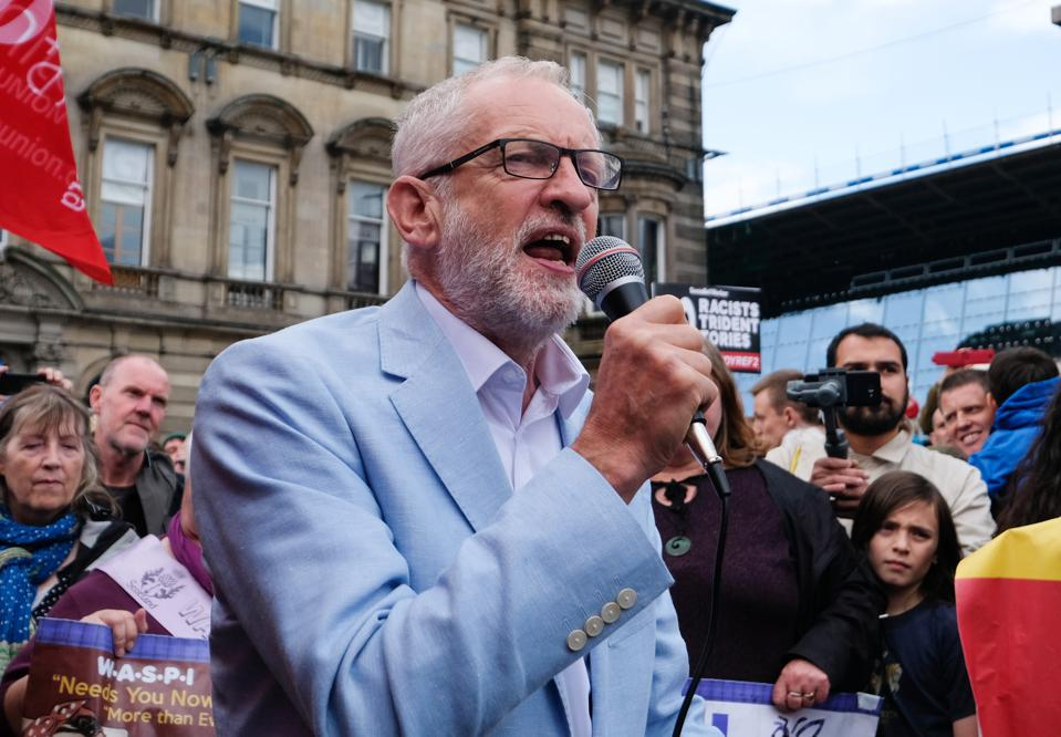 Momentum Hold Stop The Coup Protests Across The UK with Labour leader Jeremy Corbyn