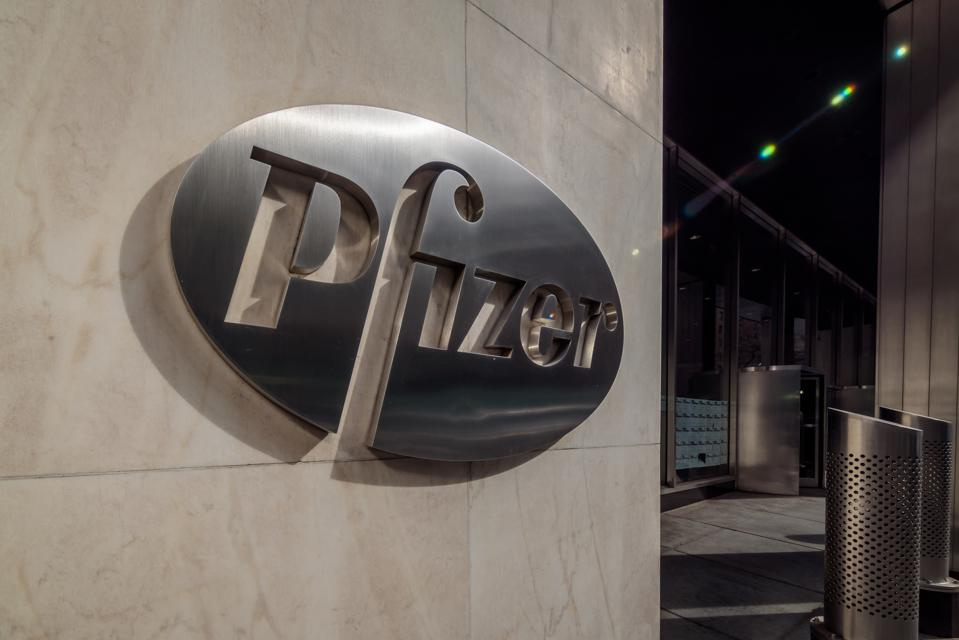 Pfizer Pharmaceuticals World Headquarters building in New...