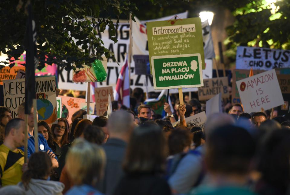Friday For Future Climate Change Protest In Krakow