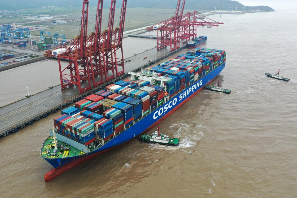 Container Ships At Ningbo-Zhoushan Port
