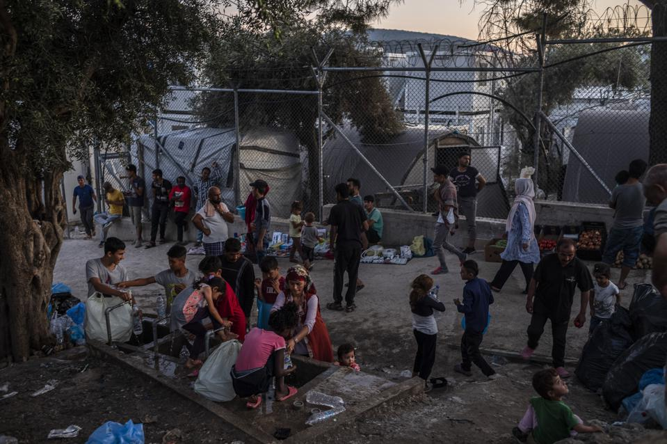 Refugee camp Moria on the island of Lesbos