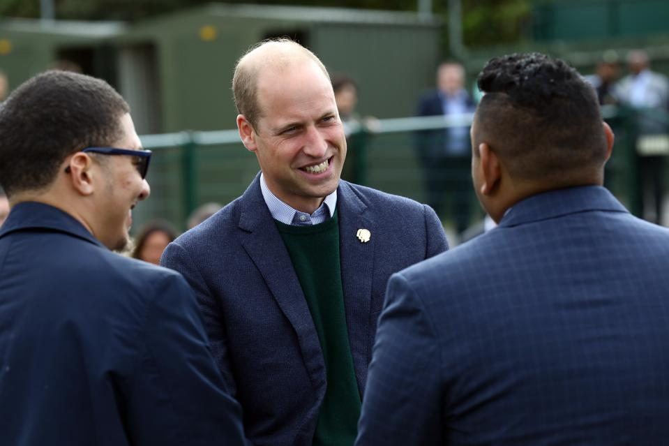 The Duke Of Cambridge Visits Hendon FC As Part Of The Heads Up Campaign