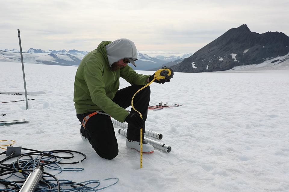Scientists Study Ice Melt On The Wolverine Glacier In Alaska