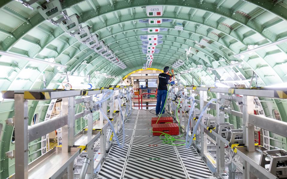 New assembly process for aircraft fuselages at Airbus